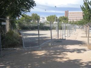 Le site du futur skate-parc le 4 septembre