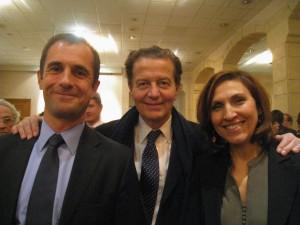 Avec N. Berra et D. Perben. Merci Mme J. pour cette belle photo !