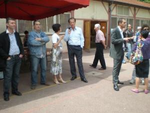 Avec D. Perben à la Kermesse du Patro