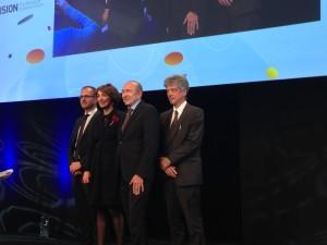 A la séance d'ouverture de Biovision 2016 pour souligner l'atout que représentent les sciences de la vie pour la région.